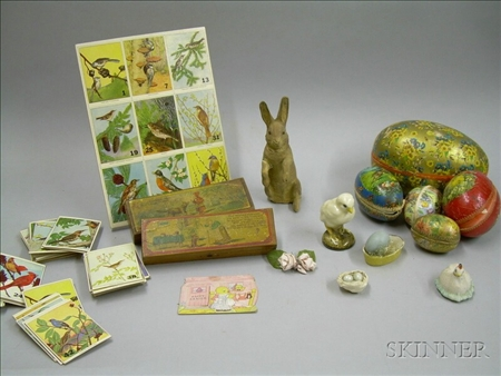 Group of Bird Cards and Easter Items.