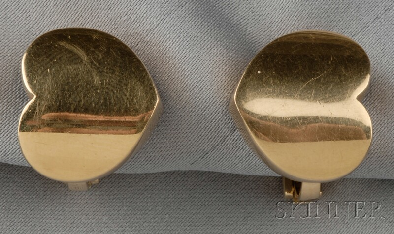 18kt Gold Earclips, Marina B.