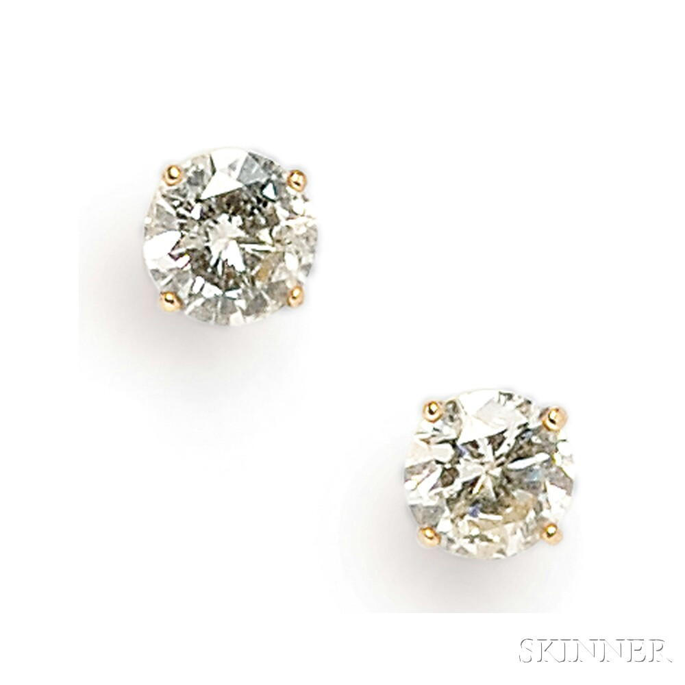 14kt Gold and Diamond Earstuds