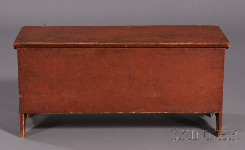 Small Red-painted Six-Board Chest