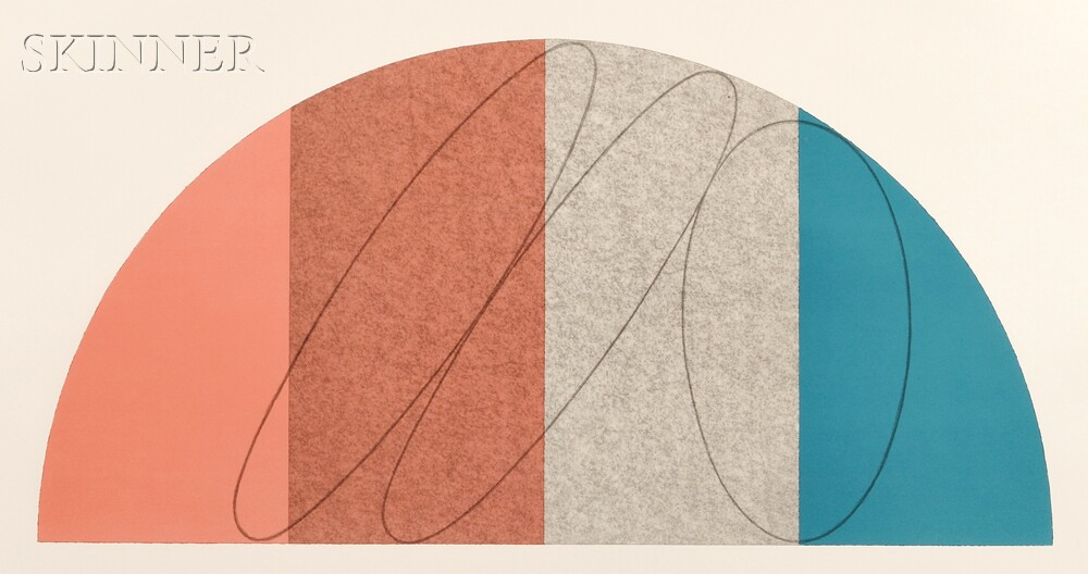 Robert Peter Mangold (American, b. 1937)      Semi-Circle II