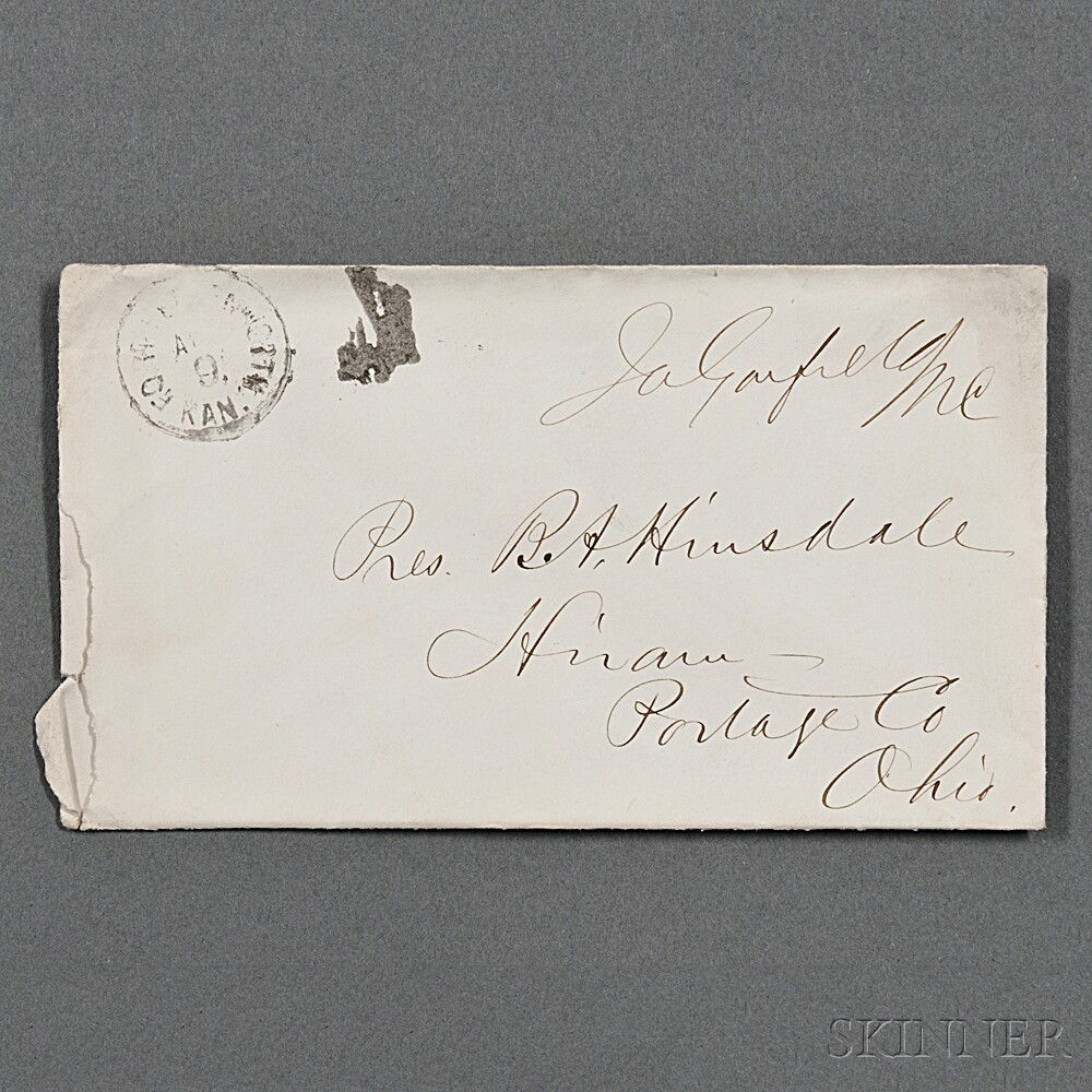 Garfield, James (1831-1881) Franking Signature.