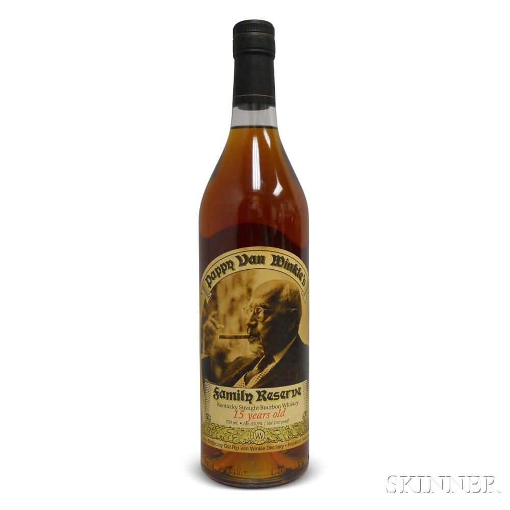 Pappy Van Winkle Family Reserve Bourbon 15 Years Old 2013, 1 750ml bottle