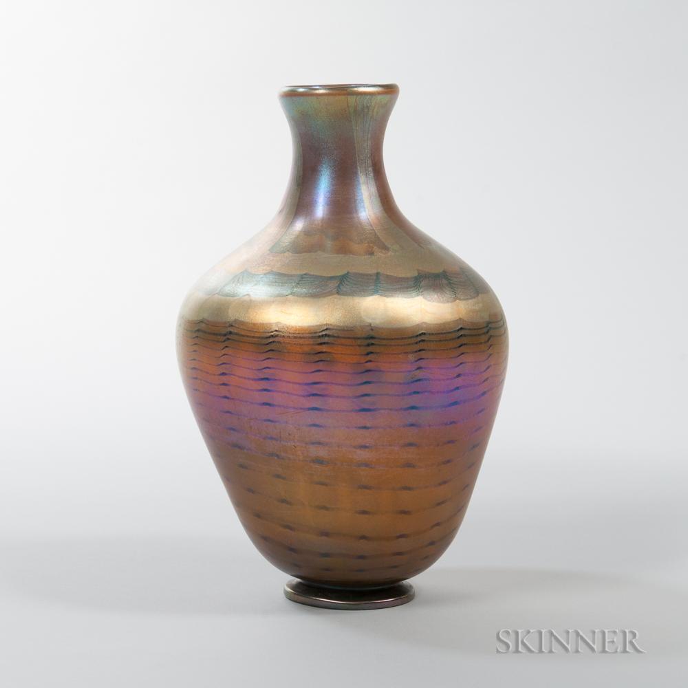 Large Tiffany Favrile Decorated Vase