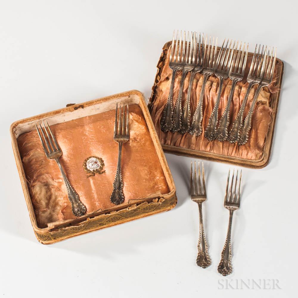 Twelve Dominick & Haff Sterling Silver Dinner Forks