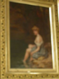 Framed Oil of a Female Bather