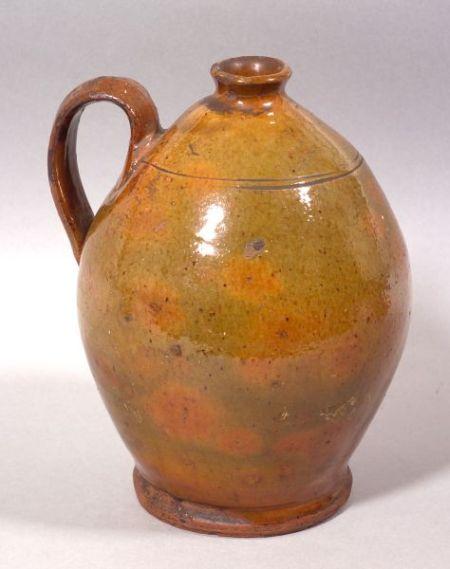 Small Redware Vinegar Jug