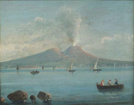 Italian School, 19th Century    View of Vesuvius.