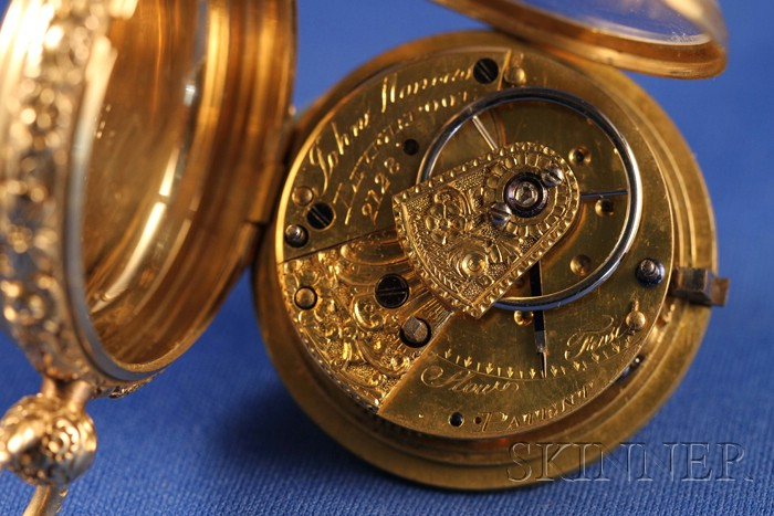 18kt Gold Consular Case Massey Lever Watch by John Moncas