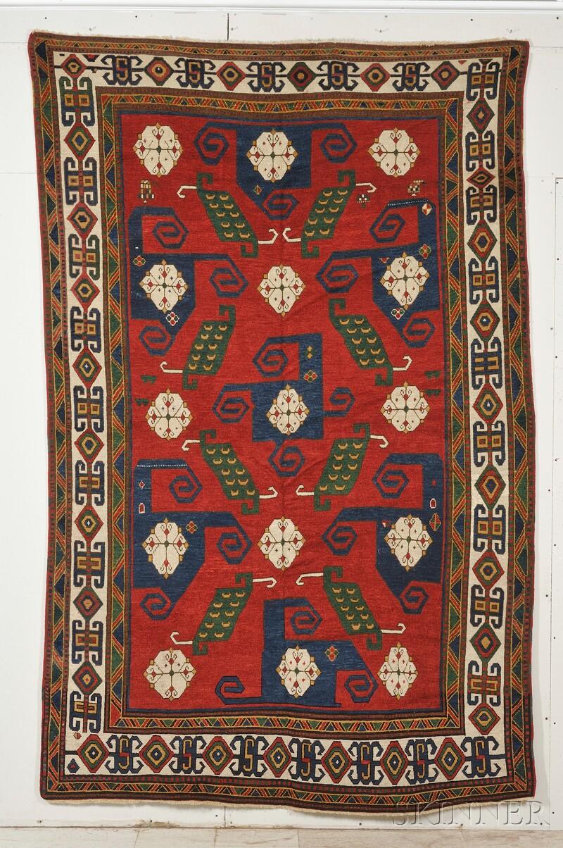 Sold For 41 475 Pinwheel Kazak Rug