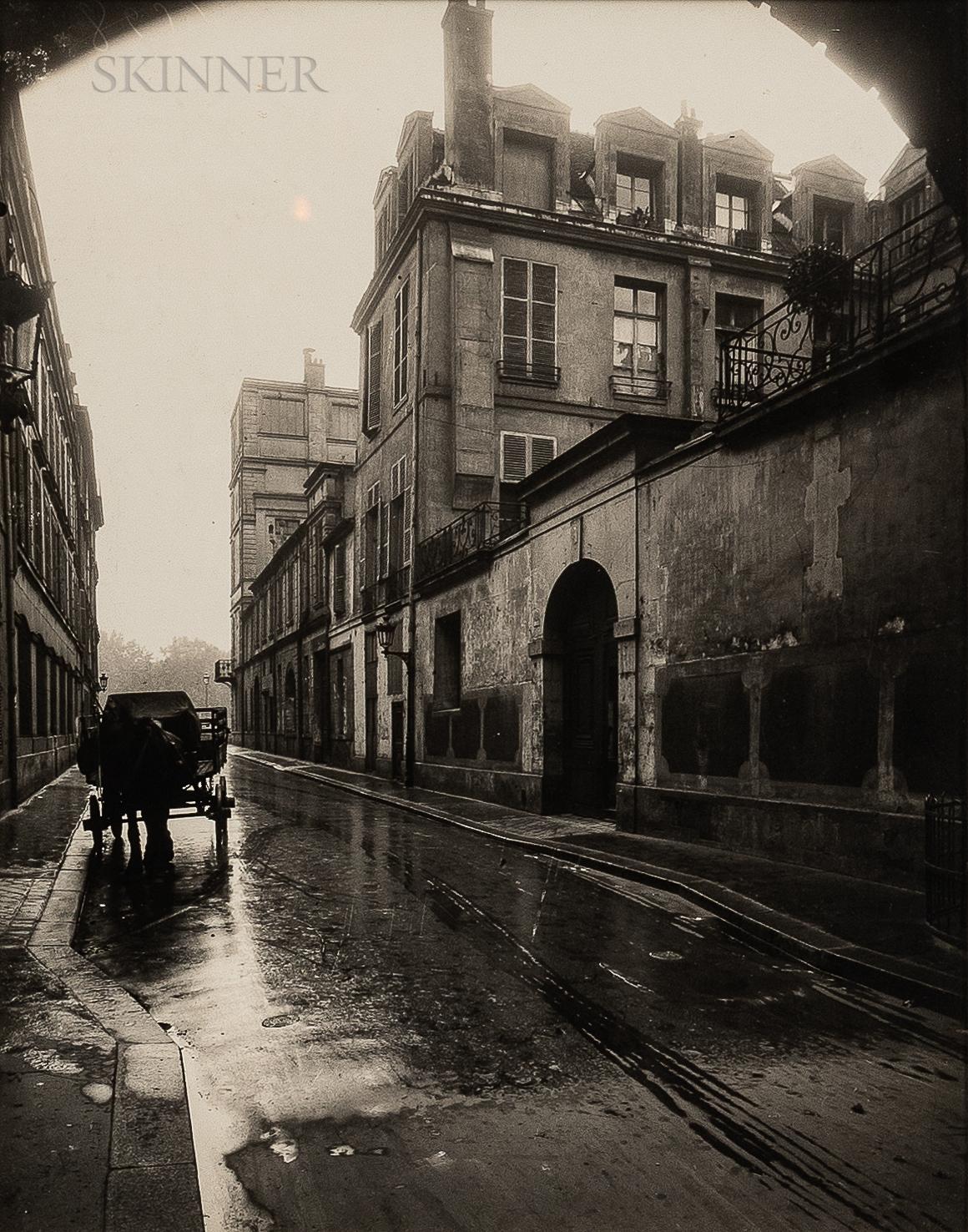 Eugène Atget (French, 1857-1927)      Rue de Bretonvilliers, Île Saint-Louis, Paris