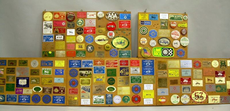 Lot of Automobile Plaques and Badges