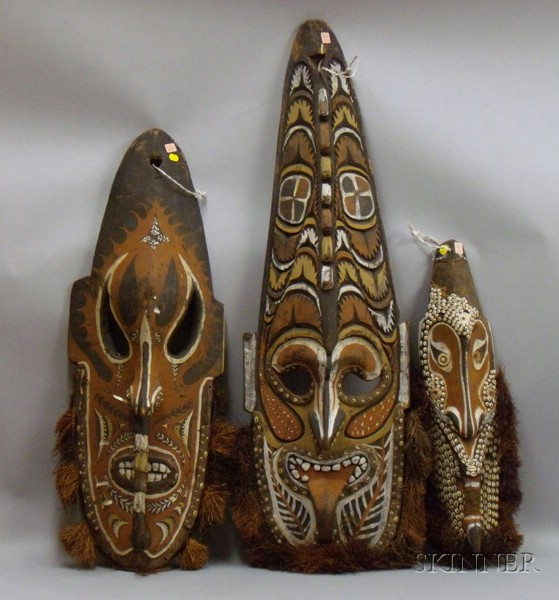 Three New Guinea Masks