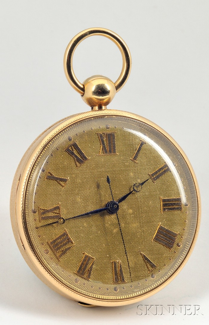 18kt Gold Consular Case Massey Lever Watch by Litherland, Davies & Company