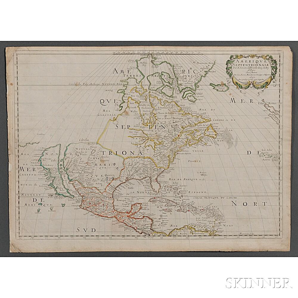 North America. Nicolas Sanson (1600-1667) Amerique Septentrionale.