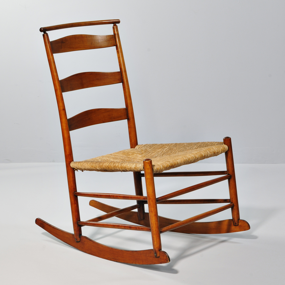 4 Production Maple Rocking Chair With Shawl Bar ...
