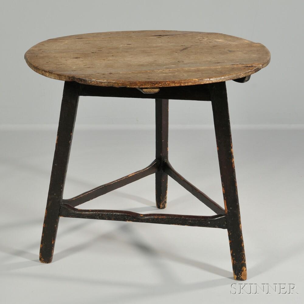 Small Three-legged Pine Tavern Table