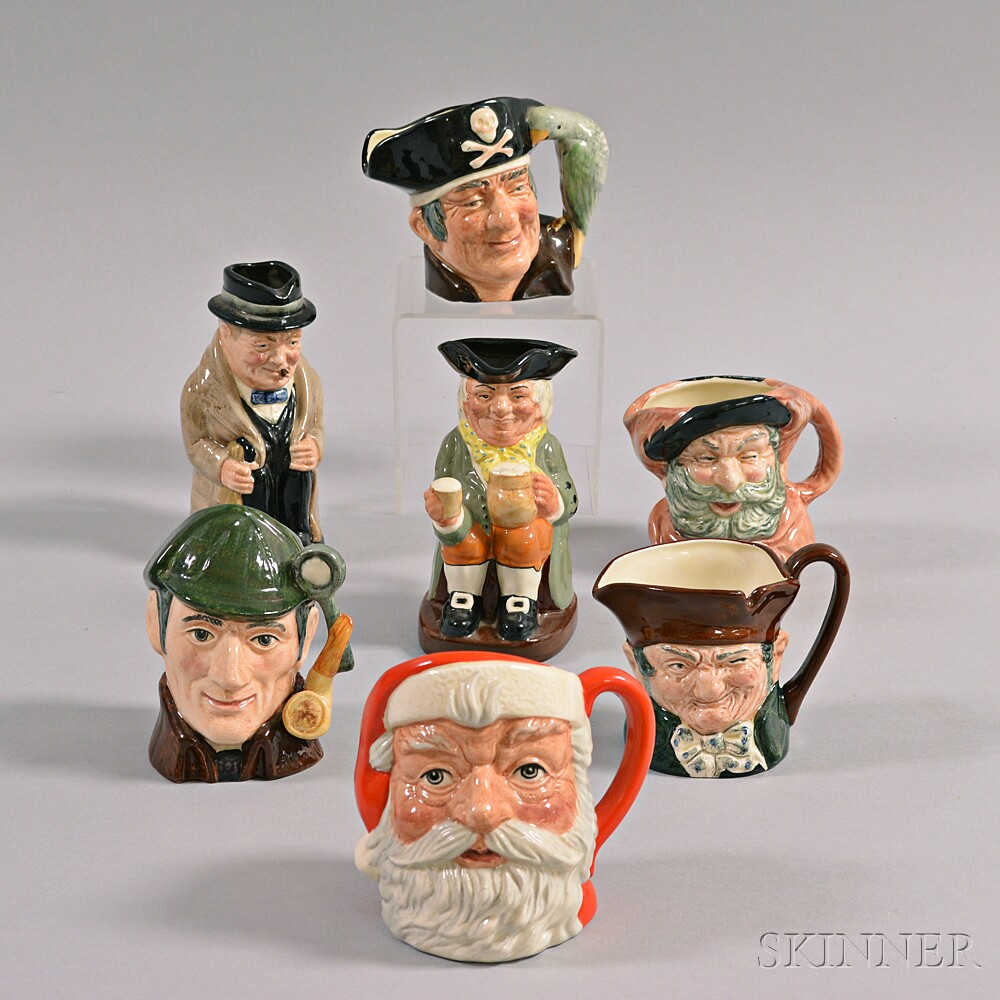 Seven Royal Doulton Ceramic Character Mugs