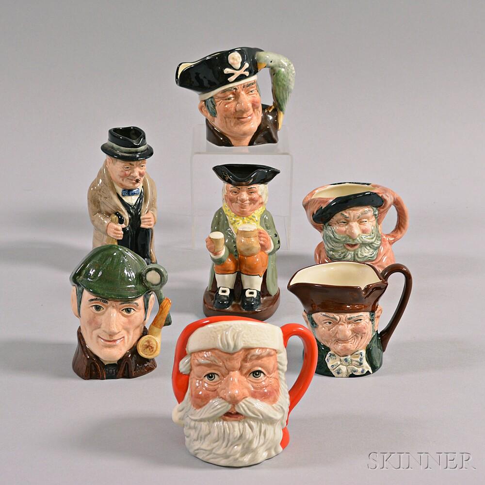 Seven Royal Doulton Ceramic Character Mugs