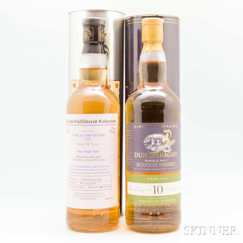 Caol Ila, 2 bottles