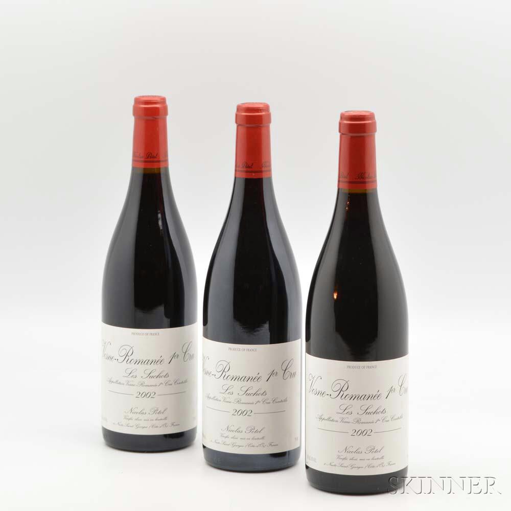 Nicolas Potel Vosne Romanee Les Suchots 2002, 3 bottles
