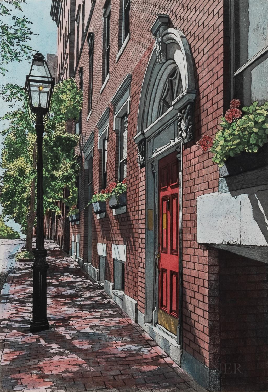 Helen Rundell (American, b. 1935)      Gas Light Lane