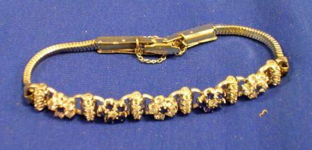 White Gold, Sapphire and Diamond Bracelet.