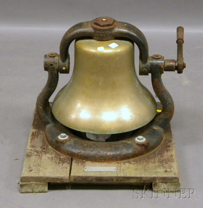New York Central Railroad Steam Locomotive Cast Brass Bell