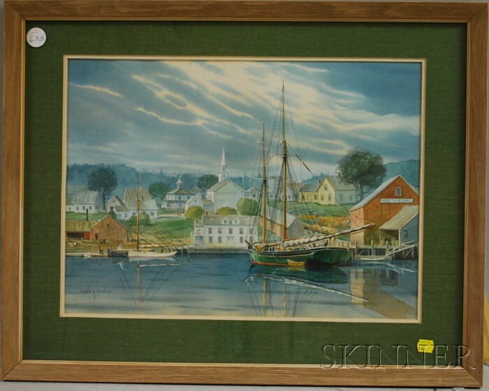 Earle G. Barlow (American, 20th Century)      Possibly Boothbay Harbor, Maine