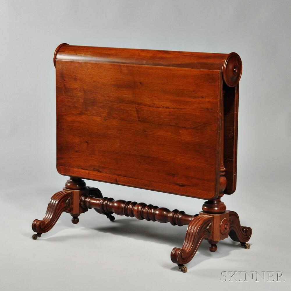 Victorian Mahogany Tuck-away Table