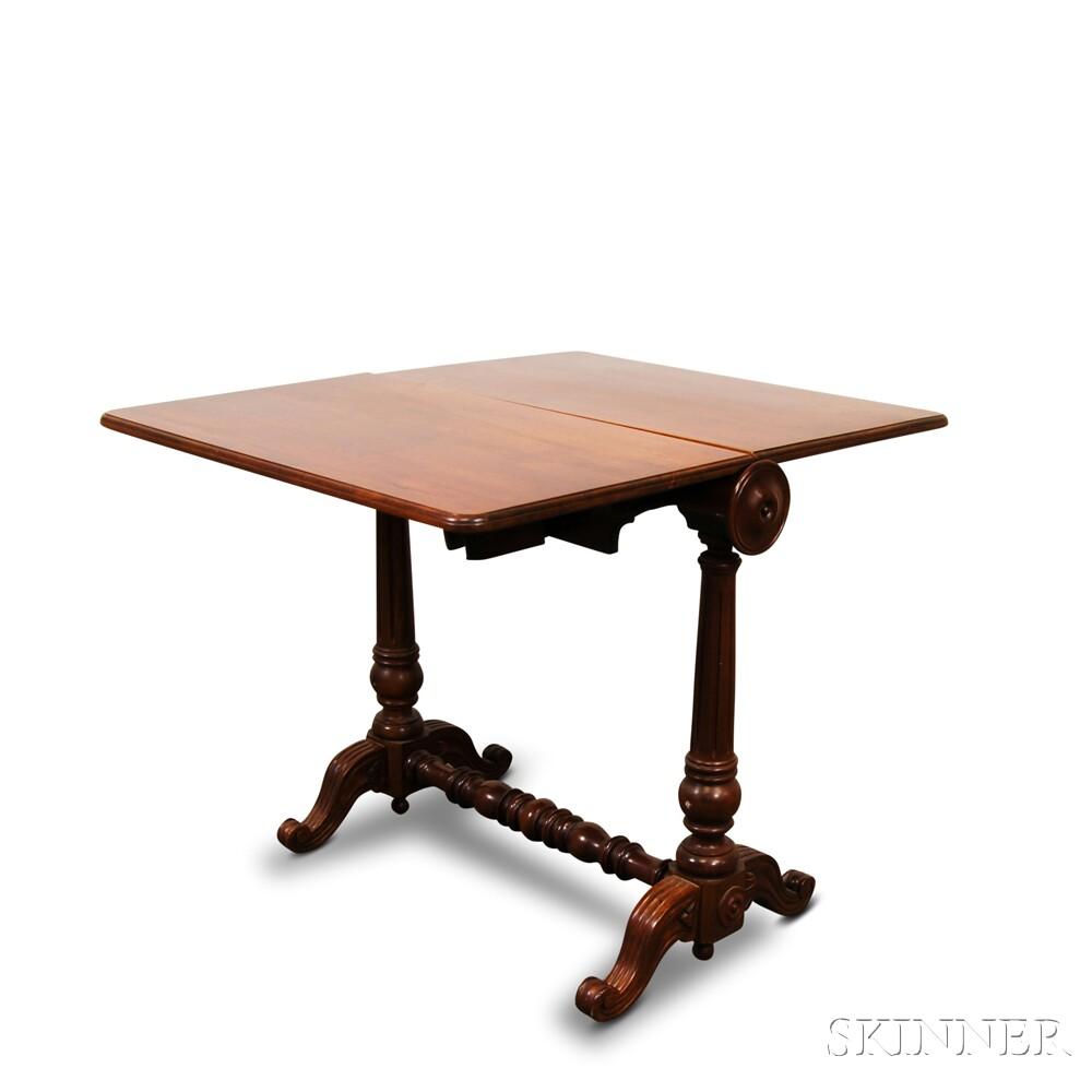 Victorian Mahogany Tuck Away Table
