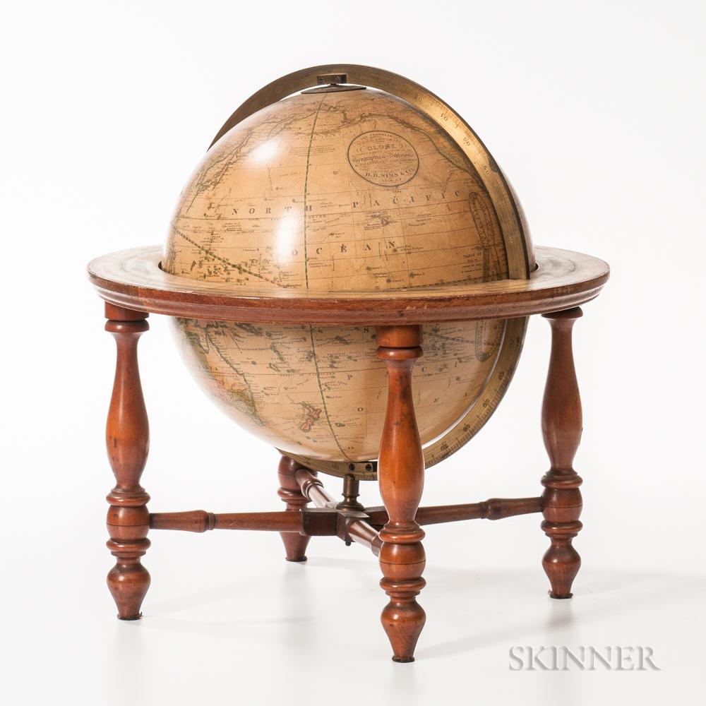 H.B. Nims & Co. 12-inch Terrestrial Globe