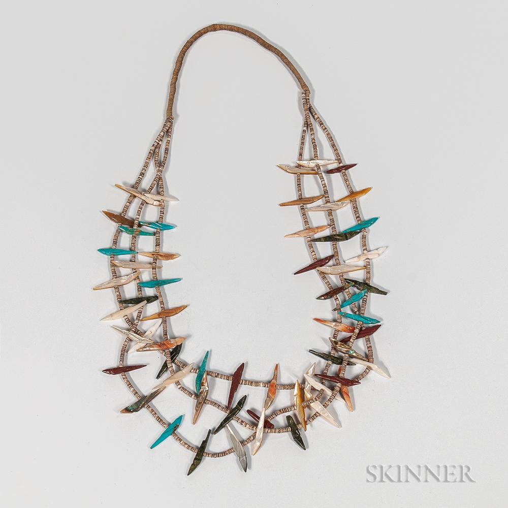 Contemporary Zuni Bird Fetish Necklace