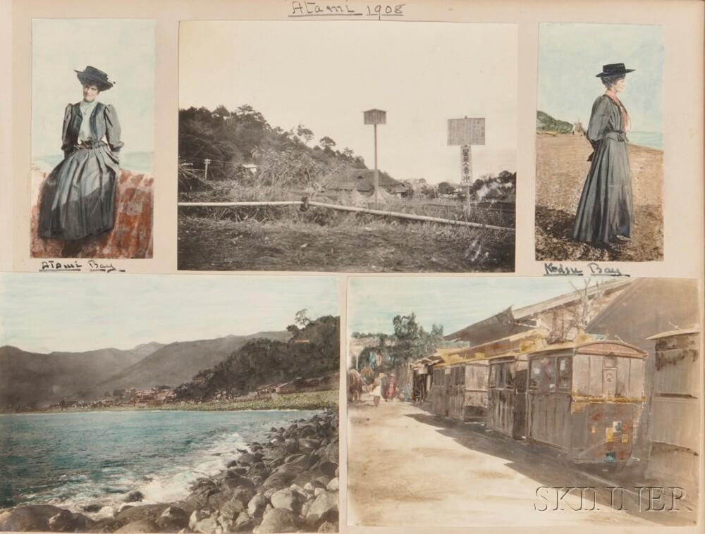 Japan, Hong Kong, Singapore, Photo Album, 1907-08.
