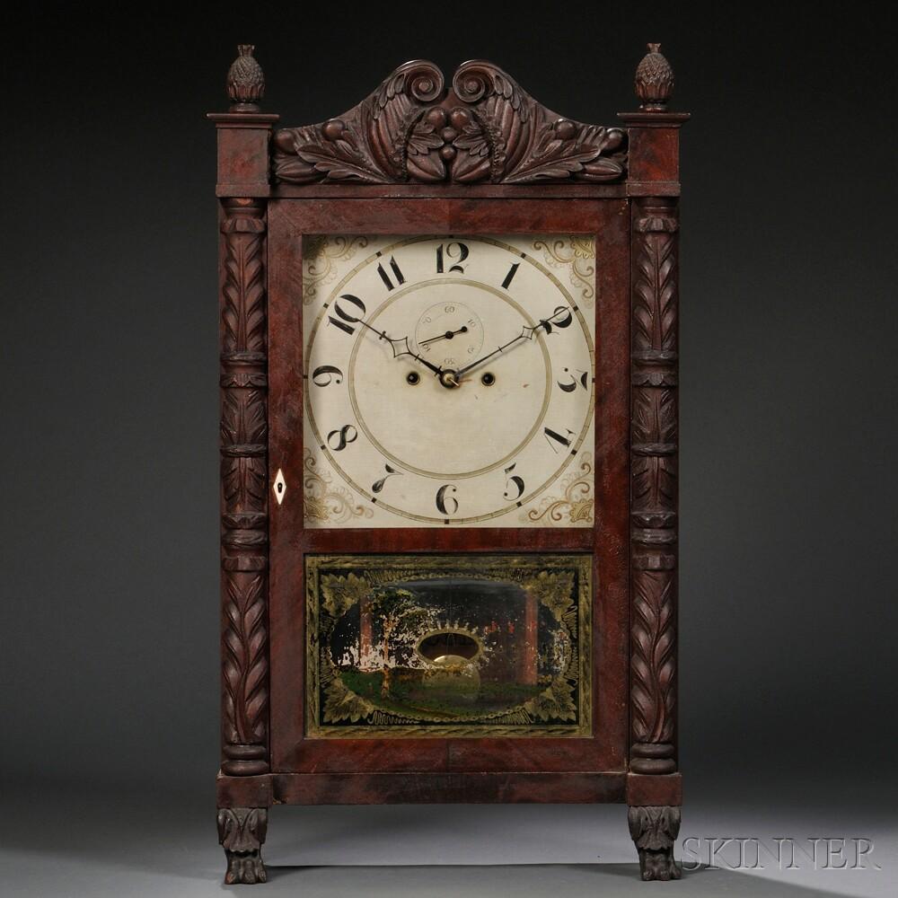 Spencer & Hotchkiss Carved Salem Bridge Shelf Clock
