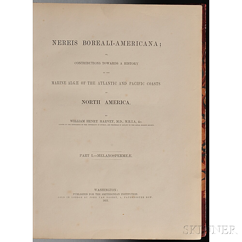 Harvey, William Henry (1811-1866) Nereis Boreali-Americana, or Contributions towards a History of the Marine Algae of the Atlantic and