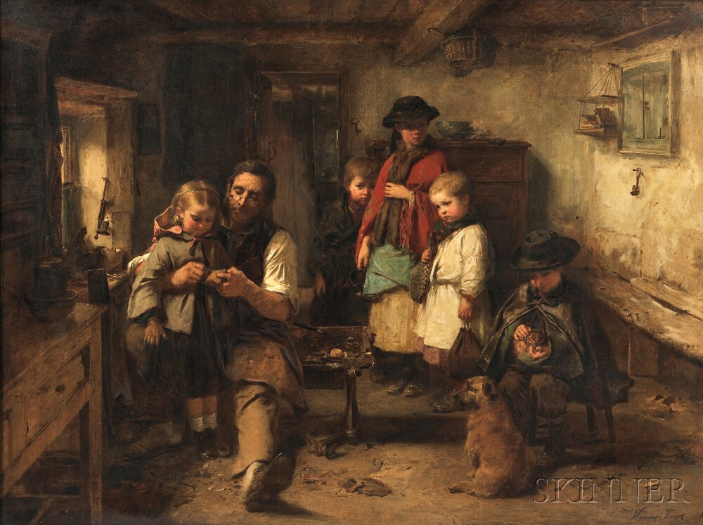 Thomas Faed (British, 1826-1900)      Baith Faither and Mither