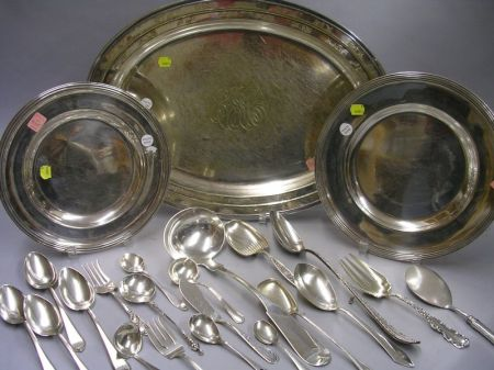 Two Christofle Silver Plated Platters