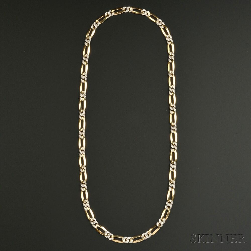 18kt Gold and Diamond Chain, Pomellato