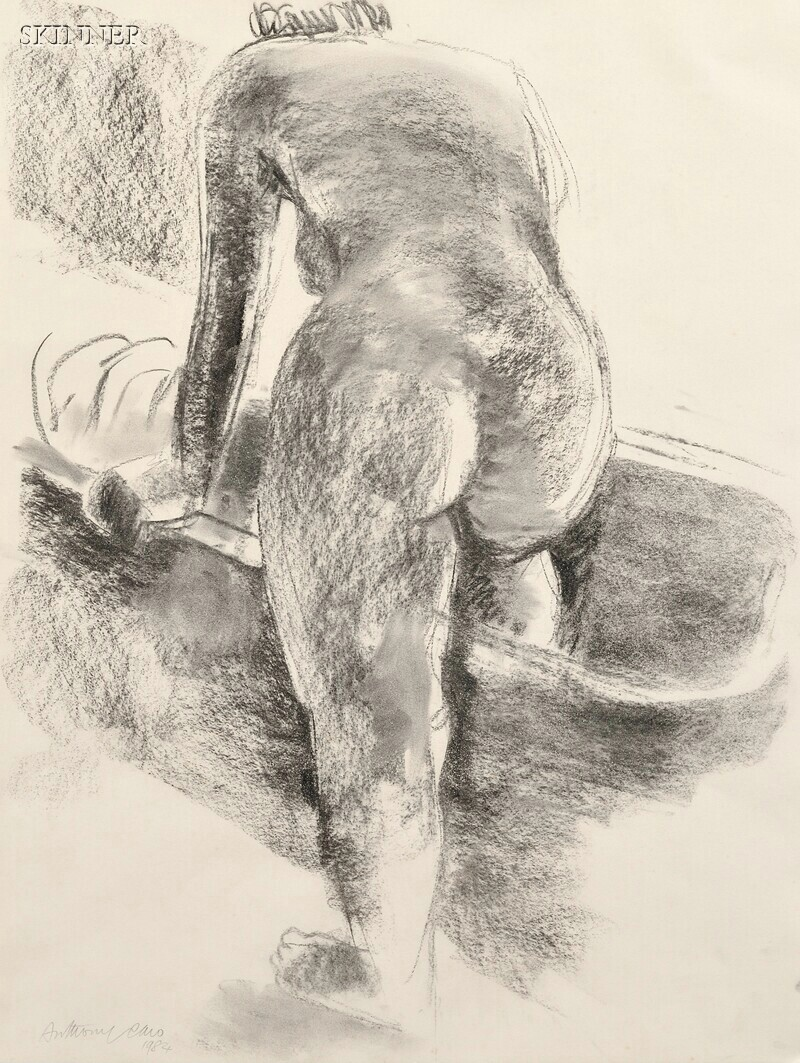 Sir Anthony Caro (British, b. 1924)      Untitled [Nude Stepping into Tub]