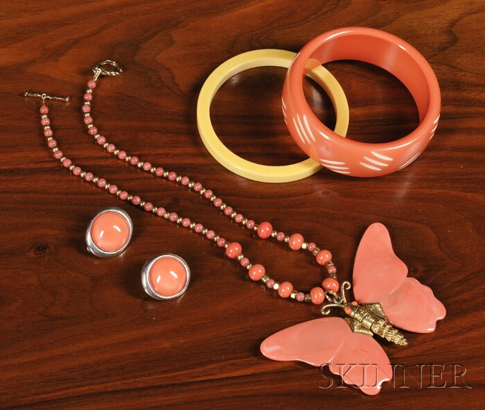 Four Pieces of Jewelry including Bakelite