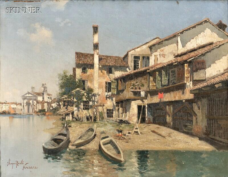 Joaquin Luque Rosello (Spanish, 1866-1932)      Venice View