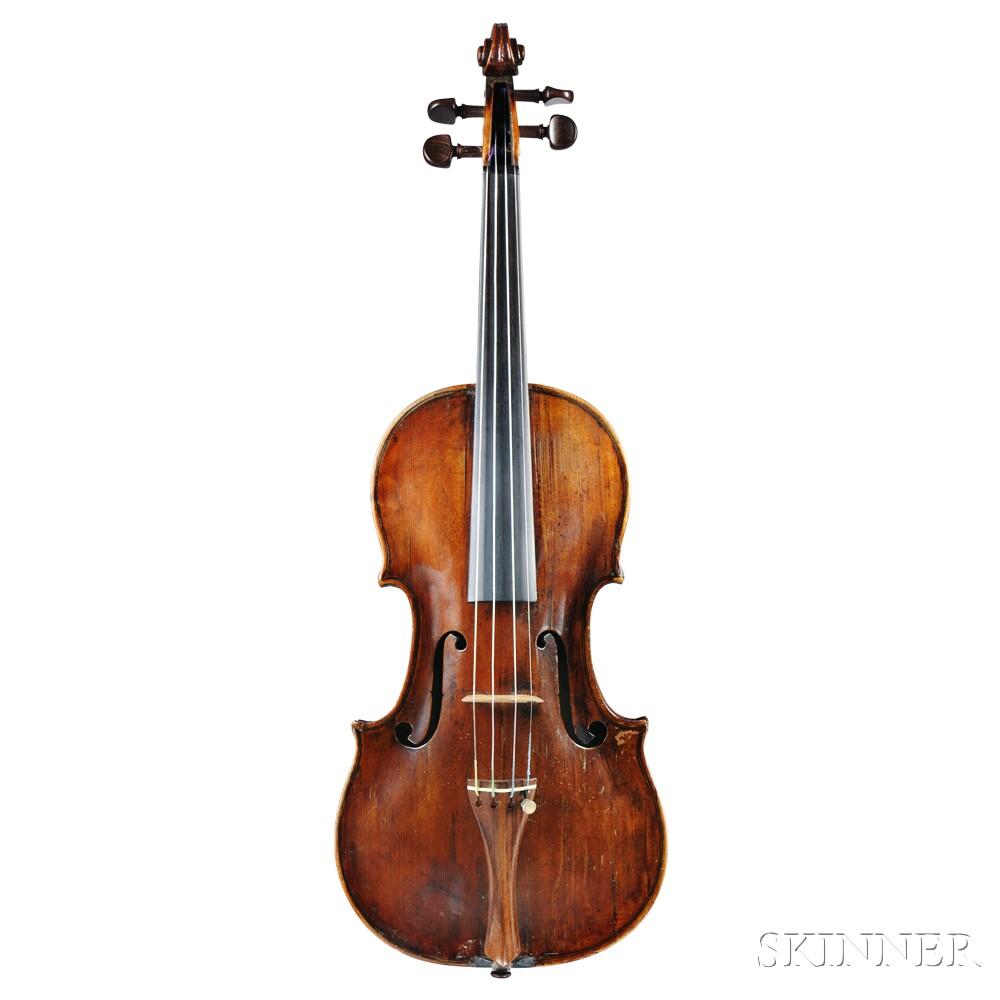 German Violin, Philipp Jacob Fischer, Wurzburg, c. 1780
