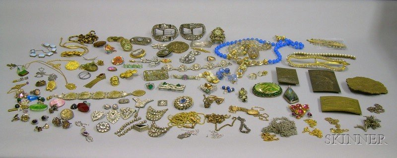 Assortment of Victorian, Art Deco, and Later Estate and Costume Jewelry