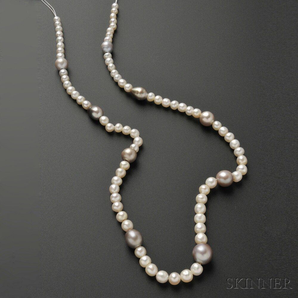 Natural Saltwater Pearl Necklace: Sale Number 2641B, Lot Number 545