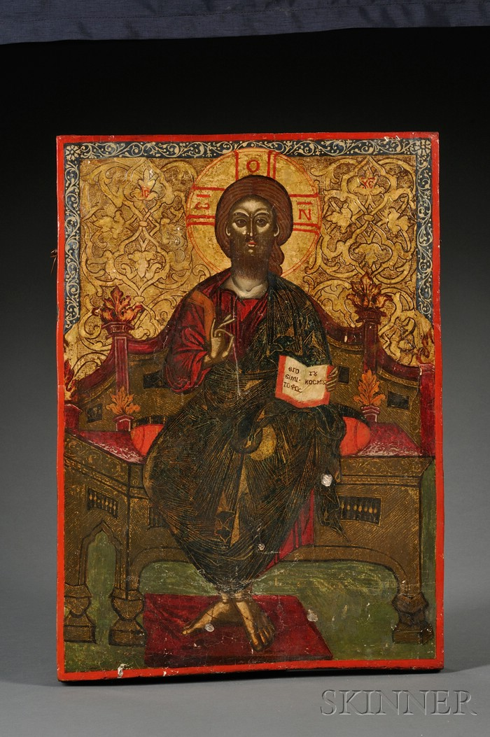 Balkans Icon of Christ Enthroned