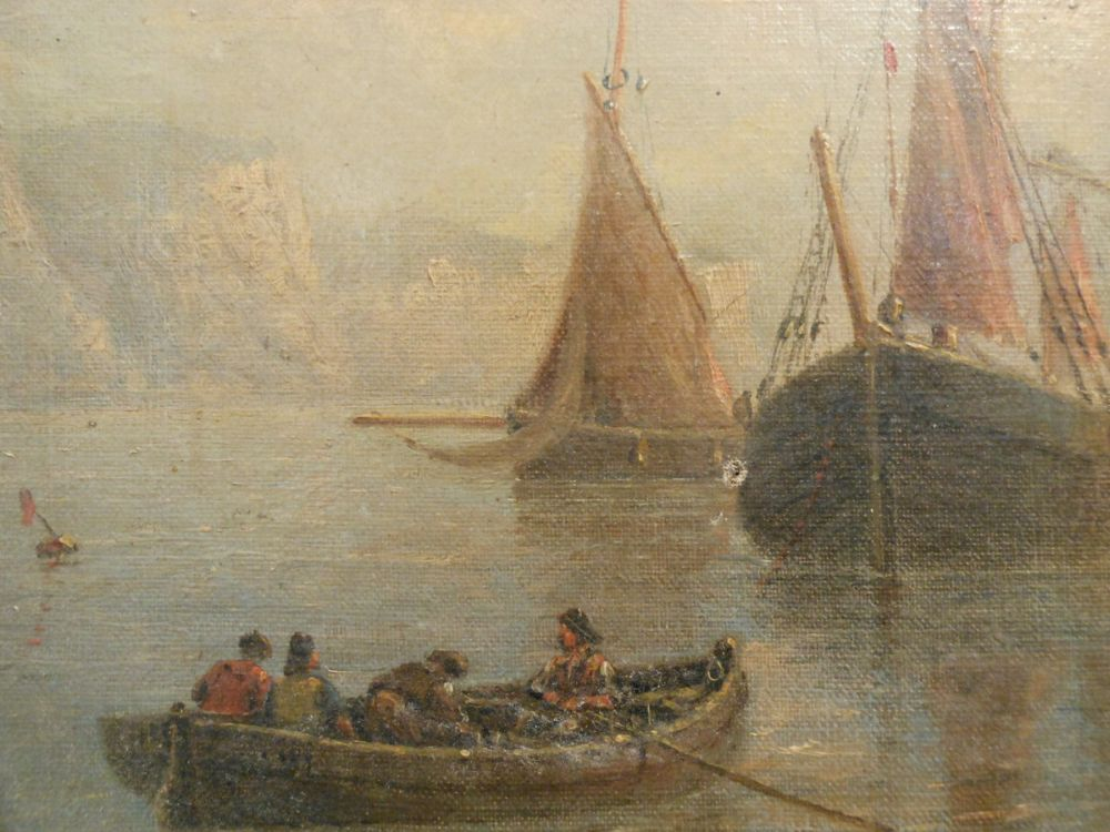 British School, 19th Century      Harbor View with Ships