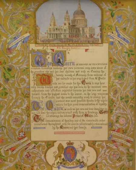 Framed Illuminated Queen Elizabeth II Proclamation Letter