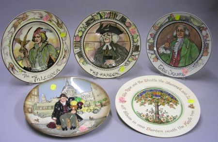 Five Assorted Royal Doulton Plates
