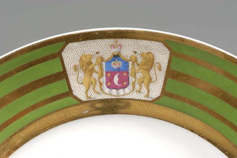 Eight Porcelain Armorial Plates